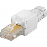 Connecteur réseau sans outils CAT 5e UTP RJ45 non blindé