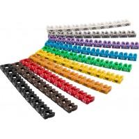 Clips d'identification de câbles «chiffres 0-9», pour un diamètre de câble de 4mm maximum 4 mm