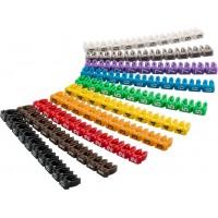 Clips d'identification de câbles «chiffres 0-9», pour un diamètre de câble de 2,5mm maximum 2.5 mm