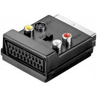 Adaptateur Scart vers vidéo composite et S-Video IN/OUT avec connexion Scart Connecteur SCART (21 broches)