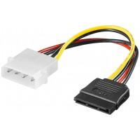 """Câble électrique/adaptateur électrique PC prise mâle 5,25"""" vers SATA 0.13 m"""
