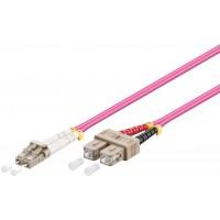 Câble à fibres optiques, Multimode (OM4) Violett 5 m