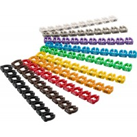Clips d'identification de câbles «chiffres 0-9», pour un diamètre de câble de 6mm maximum 6 mm