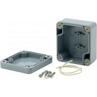 Boîtier plastique 146 x 222 x 55 mm gris foncé ABS IP 65