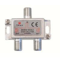 Splitter satellite F-connecteur 6.2 dB / 5-2400 MHz - 2 Outputs