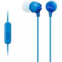 Sony MDR-EX15APLI Ecouteurs Intra-auriculaires avec Microphone - Bleu