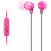 Sony MDR-EX15APPI Ecouteurs Intra-auriculaires avec Microphone - Rose