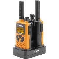 Motorola Talkie-walkie portée de 4 km Blanc avec Contours Orange/Vert/Bleu, TLKR T42 Trio