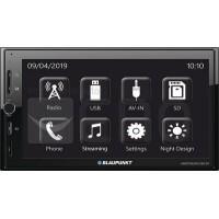 Blaupunkt Amsterdam 290 BT Radio | 2DIN | Mise en Miroir de Smartphone | Bluetooth Mains Libres et Audio | USB | SDHC | AUX | EQ
