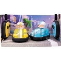 EAXUS ® Lot de 2 super bumper Car - Pour 2 joueurs, bleu et jaune