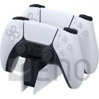 Sony Station de chargement DualSense PS5, Chargeur de Manette PlayStation 5 Officielle, Couleur: Bicolore (blanc et noir)