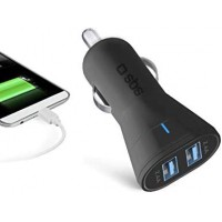 SBS Chargeur USB double voiture prise allume-cigare 12/24V
