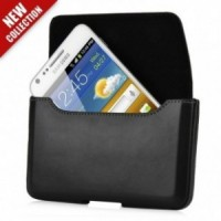 Holster cuir noir Capdase pour Wiko King, Five, Galaxy Note, Note 2, Note 3,Sony Z1