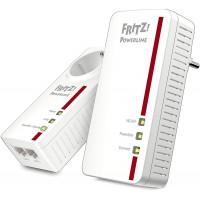 AVM Fritz Powerline 1260E/1220E WLAN Set (point d`accès WLAN, idéal pour le streaming multimédia ou les connexions NAS, 1200 Mbi