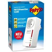 AVM Fritz! Adaptateur Powerline 1220E (1200Mbit/s, 2 Gigabit-LAN, idéal pour Les Applications NAS et pour Le Streaming en HD)
