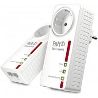AVM Fritz. Powerline 1220e Set (1200Mbit/s, 2x Gigabit LAN Adaptateur, idéal pour Les Applications NAS et HD en Streaming chac