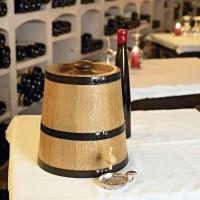 Vinaigrier, Eau de vie, Rhum,Tonnelet en CHENE MASSIF, Capacité 5 Litres FABRICATION FRANCAISE GARANTIE