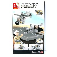 Jeu de construction Sluban Elements Aircraft Carrier Series Drones 3-In-1