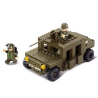 Jeu de construction Sluban Elements Army Series Véhicule blindé
