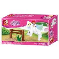 Jeu de construction Sluban Elements Girls Dream Series Saut de cheval