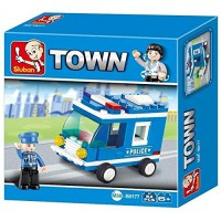 Jeu de construction Sluban Elements Police Series Police Van