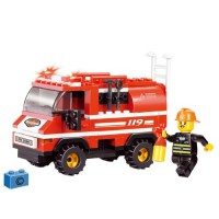 Jeu de construction Sluban Elements Fire Series Camion de pompier