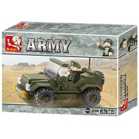 Jeu de construction Sluban Elements Army Series Jeep