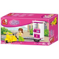 Jeu de construction Sluban Elements Girls Dream Series Station d'essence