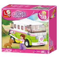 Jeu de construction Sluban Elements Girls Dream Series Camping car