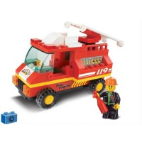 Jeu de construction Sluban Elements Town Series Camion de pompier