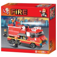Jeu de construction SLUBAN Elements Fire Series Grand camion de pompiers