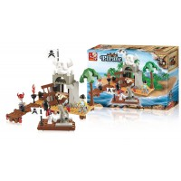 Jeu de construction SLUBAN Elements Pirate Series Ile au trésor