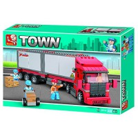 Jeu de construction SLUBAN Elements Town Series Camion Container