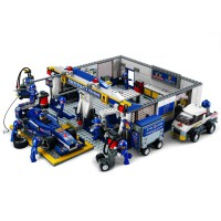 Jeu de construction SLUBAN Elements Formula 1 Series F1 Pit Stop