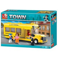 Jeu de construction SLUBAN Elements Town Series Bus scolaire