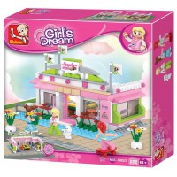 Jeu de construction SLUBAN Elements Girls Dream Series Snooker Club