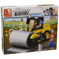 Jeu de construction SLUBAN Elements Town Series Compacteur routier