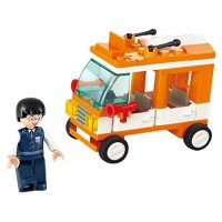 Jeu de construction SLUBAN Elements Town Series Mini Bus