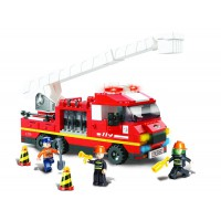 Jeu de construction SLUBAN Elements Fire Series Truck Ladder
