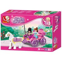 Jeu de construction SLUBAN Elements Girls Dream Series Princesse Carriage