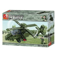 Jeu de construction SLUBAN Elements Army Series Hélicoptère de combat