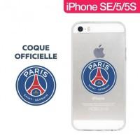 Coque officielle PSG TPU transparente pour iPhone SE/5S/5