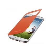 Etui à rabat à zone transparente Samsung EF-CI950O orange pour Galaxy S4 I9500