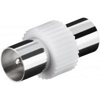 Adaptateur IEC Coax Mâle (IEC) - Coax Mâle (IEC) Blanc