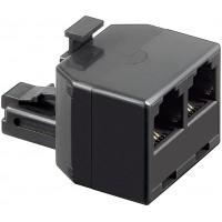 RNIS T-adaptateur RJ11 / connecteur RJ14 (6P4C) pour, 2 x RJ11 / RJ14 (6P4C)
