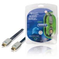 Câble HDMI haute vitesse avec Ethernet plat Connecteur HDMI - Connecteur HDMI 7.50 m Bleu
