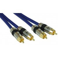 InLine® Cinch Kabel AUDIO, PREMIUM, connecteurs plaqués or, 2x RCA M / M, 5m