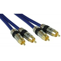 InLine® Cinch Kabel AUDIO, PREMIUM, connecteurs plaqués or, 2x RCA M / M, 0,5m