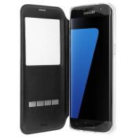 Etui noir Pour Samsung Galaxy S7 Edge Avec system de prise de communication rapide