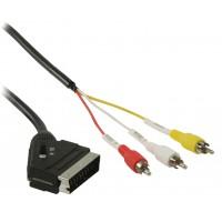 Câble Peritel vers RCA PERITEL Mâle - 3x RCA Mâles 1.00 m Noir